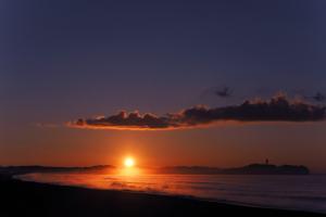 海岸で週末の朝陽を撮って見た-03