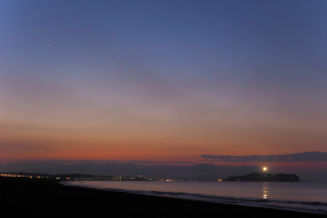 早朝の海岸で撮って見た-01