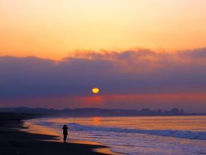 早朝の海岸で撮って見た-02